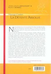 Detente Absolue : Massage Coreen (La) - 4ème de couverture - Format classique