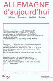 Revue Allemagne D'Aujourd'Hui - Intérieur - Format classique