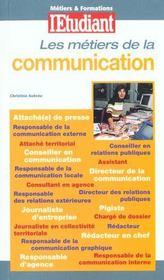 Metiers Et Formation ; De La Communication ; Edition 2000 - Intérieur - Format classique
