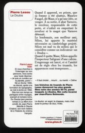 Le doulos - 4ème de couverture - Format classique