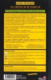 Guide Pratique Du Createur De Start-Up - 4ème de couverture - Format classique