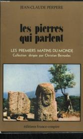 Les Pierres Qui Parlent. - Couverture - Format classique