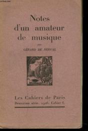 Notes D'Un Amateur De Musique. - Couverture - Format classique