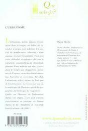 L'urbanisme (6ed) (6e édition) - 4ème de couverture - Format classique