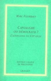 Capitalisme ou démocratie ? l'alternative du XXI siècle - Couverture - Format classique