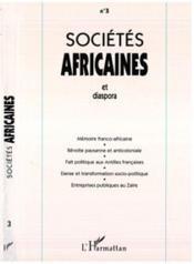 Societes Africaines 3 Et Diaspora - Couverture - Format classique