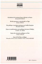 Societes Africaines 3 Et Diaspora - 4ème de couverture - Format classique