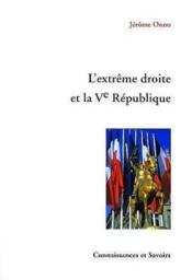 L'Extreme Droite Et La Veme Republique - Couverture - Format classique