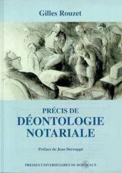 Précis de déontologie notariale - Couverture - Format classique