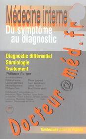 Docteur@Med.Fr ; Medecine Interne Du Symptome Au Diagnostic - Intérieur - Format classique
