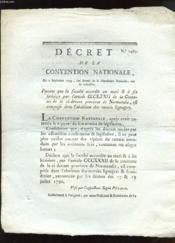 Decret De La Convention Nationale N°1467. - Couverture - Format classique