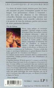 Vie De Neron - 4ème de couverture - Format classique