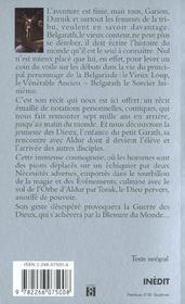 Belgarath Le Sorcier T.1 ; Les Annees Noires - 4ème de couverture - Format classique