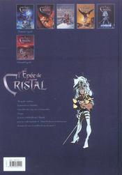 L'épée de cristal T.5 ; le goût de sulfur - 4ème de couverture - Format classique