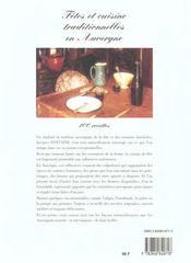 Fetes et cuisine en auvergne - 4ème de couverture - Format classique