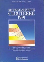 Recommandations Clouterre 1991 - Couverture - Format classique