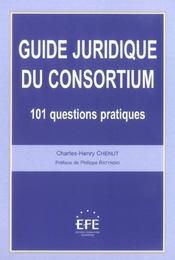 Guide juridique du consortium - Intérieur - Format classique