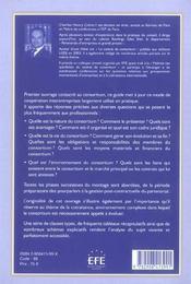 Guide juridique du consortium - 4ème de couverture - Format classique