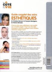 Guide complet des soins esthétiques - 4ème de couverture - Format classique