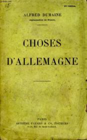 Choses D'Allemagne. - Couverture - Format classique