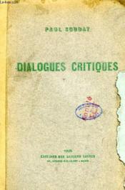 Dialogues Critiques - Couverture - Format classique