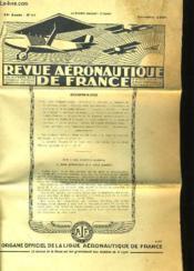 Revue Aeronautique De France 18eme Annee N°11 - Couverture - Format classique
