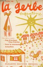 La gerbe enfantine n°7 avril 1961 - Coq d'en haut coq d'en bas - Coco la marmotte - actualités. - Couverture - Format classique