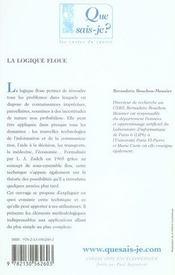 La logique floue (4e édition) - 4ème de couverture - Format classique
