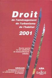 Droit de l'amenagement, de l'urbanisme, de l'habitat 2001- n 5 - 1ere ed. - Intérieur - Format classique
