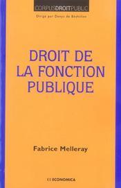 Droit de la fonction publique - Intérieur - Format classique