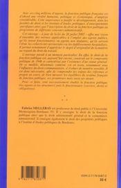Droit de la fonction publique - 4ème de couverture - Format classique