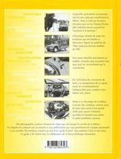 La Méhari ; historique, identification, évolution, restauration, entretien, conduite - 4ème de couverture - Format classique