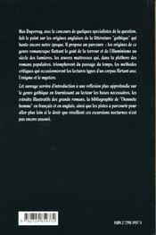 Le Roman Noir Anglais Dit Gothique - 4ème de couverture - Format classique