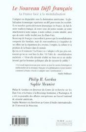 Le nouveau defi francais - 4ème de couverture - Format classique