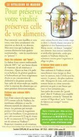 Guide des restaurants bio et/ou vegetariens de france - 4ème de couverture - Format classique