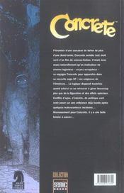 Concrete T.2 ; Fragile Creature - 4ème de couverture - Format classique