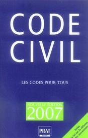 Code civil 2007 - Intérieur - Format classique
