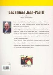 Les Annees Jean-Paul Ii - 4ème de couverture - Format classique