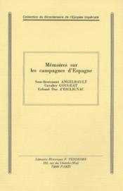 Mémoires sur les campagnes d'espagne - Couverture - Format classique