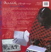 Maasai - L'Etoffe Rouge, Maasai Orubeka - 1 Des Tanzaniens - 4ème de couverture - Format classique