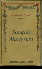 Sanguis Martyrum - Couverture - Format classique