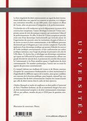 Droit européen, institutions, ordre juridique, contentieux - 4ème de couverture - Format classique