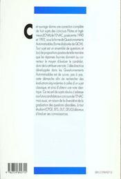 Questionnements Automatisables De Mathematiques Enac 1990-1992 - 4ème de couverture - Format classique