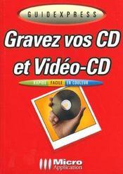 Guidexpress; gravez cd-video ; cd - Intérieur - Format classique