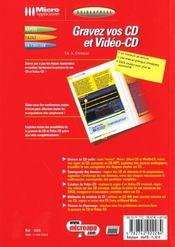 Guidexpress; gravez cd-video ; cd - 4ème de couverture - Format classique