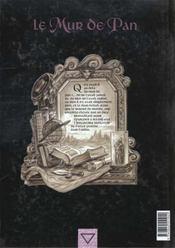 Le mur de Pan t.3 ; le fils du rêveur - 4ème de couverture - Format classique