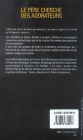Pere Cherche Des Adorateurs - 4ème de couverture - Format classique
