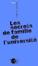 Les secrets de famille de l'université - Couverture - Format classique