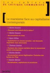 Le marxisme face au capitalisme contemporain - Couverture - Format classique