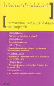 Marxisme Face Au Capitalisme Contemporain - Intérieur - Format classique